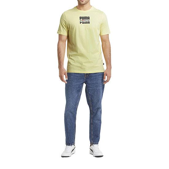 Puma-Big and Tall Mens Crew Neck Short Sleeve Graphic T-Shirt
