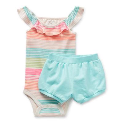 Okie Dokie Baby Girls 2-pc. Short Set