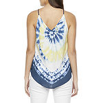 by&by Juniors Womens Halter Neck Sleeveless Tank Top