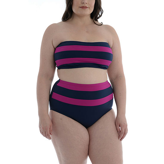 Sonnet Shores Plus Bandeau Top and High Waist Full Coverage Bottom