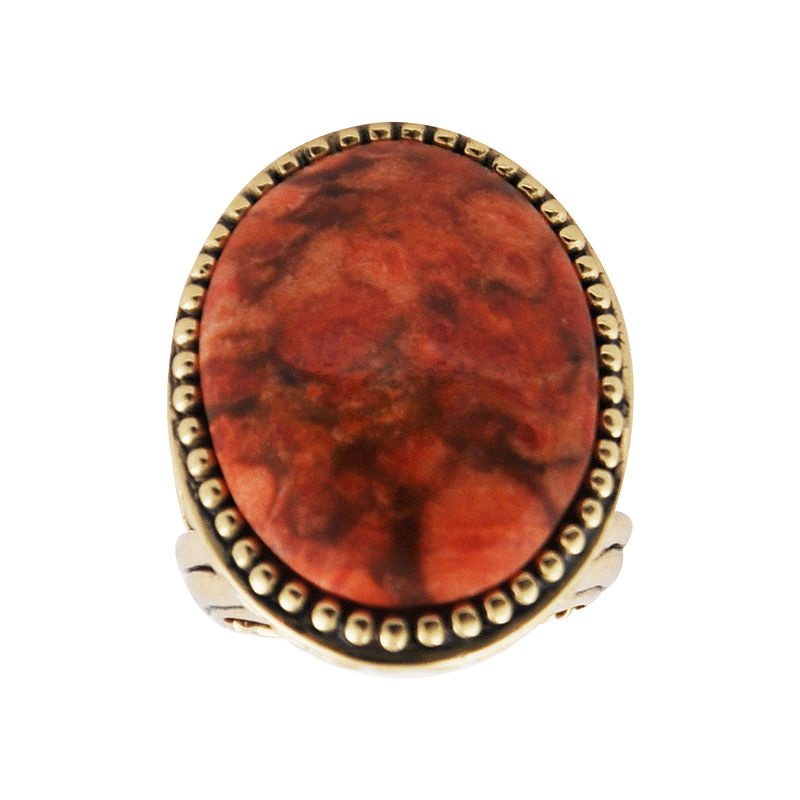 Art Smith by BARSE Sponge Coral Statement Ring