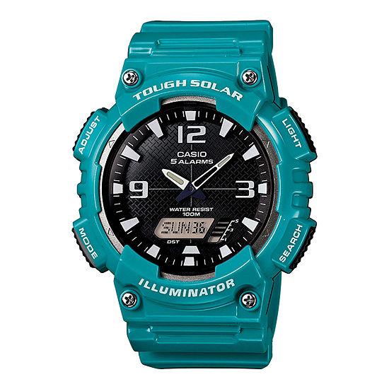 Casio Mens Green Strap Watch-Aq-S810wc-3a
