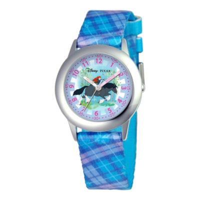 Disney Kids Time Teacher Merida Blue Strap Watch