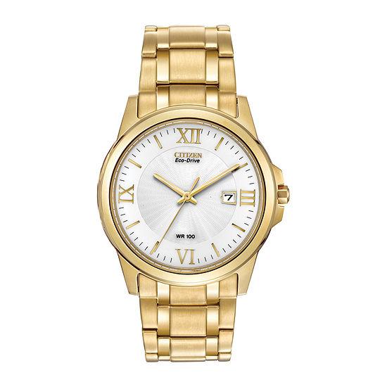 Citizen Corso Mens Gold Tone Stainless Steel Bracelet Watch-Bm7262-57a