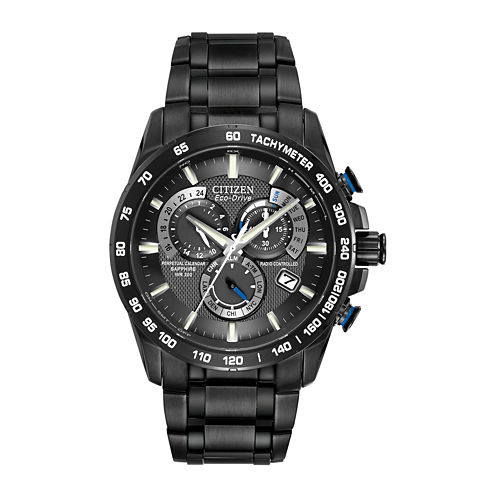 Citizen® Eco-Drive® Mens Atomic Timekeeping Chronograph Watch AT4007-54E