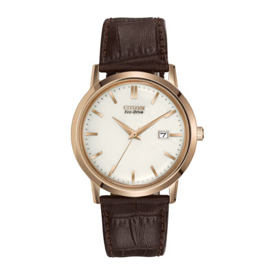 Citizen® Eco-Drive® Brown Leather Watch BM7193-07B