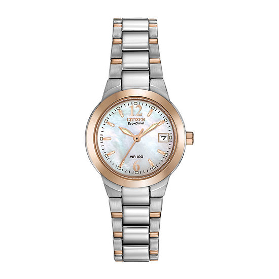 Citizen Chandler Womens Two Tone Bracelet Watch-Ew1676-52d