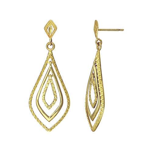 10K Yellow Gold Teardrop Earrings