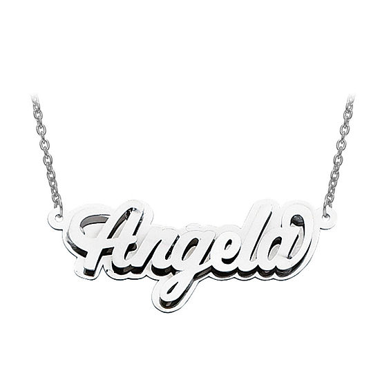 Personalized 16x42mm Polished 3D Name Necklace