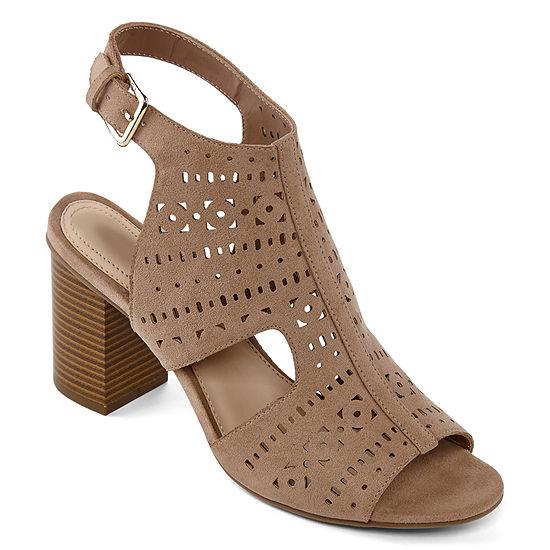 Liz Claiborne Womens Tecca Heeled Sandals