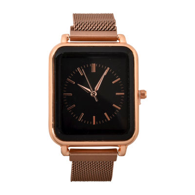 Geneva Geneva Womens Rose Goldtone Strap Watch-Wac8698jc