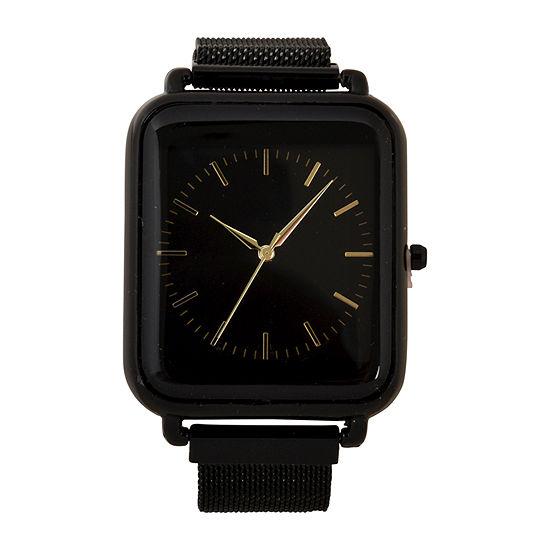 Geneva Mens Black Strap Watch-Mac8040jc