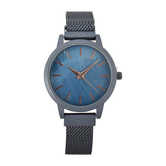 Geneva Womens Blue Strap Watch-Wac8701jc