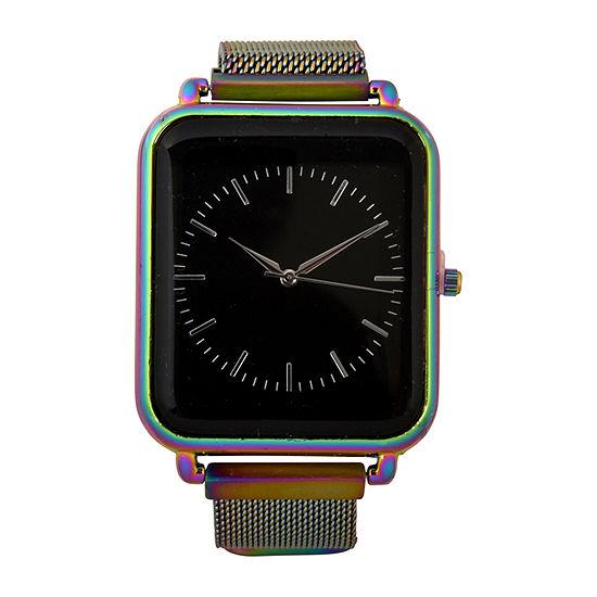 Geneva Mens Multicolor Strap Watch-Mac8036jc