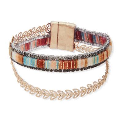 Chaps Gold Tone 7.5 Inch Link Bracelet