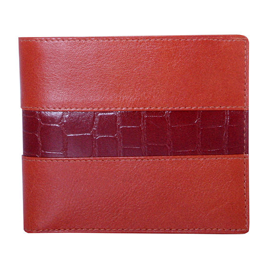 Double fold wallet with croc
