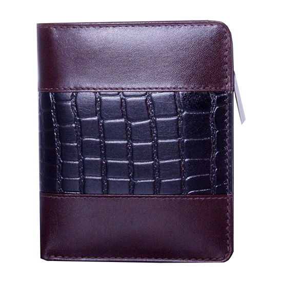 Wallet with croc accents