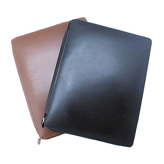 Casual leather padfolio