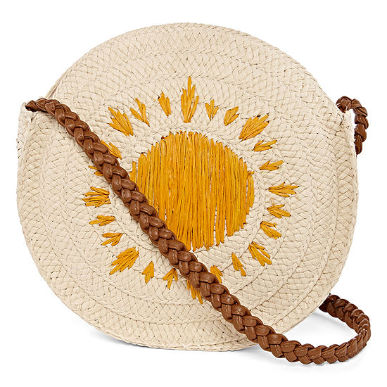 Straw Round Crossbody Bag