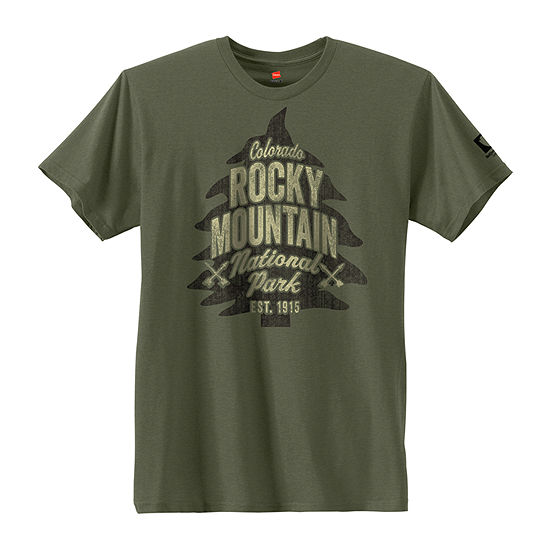 Hanes National Parks Rocky Mountain Graphic Tee