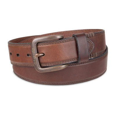 Columbia™ Leather Casual Men's Belt with Double Stitch