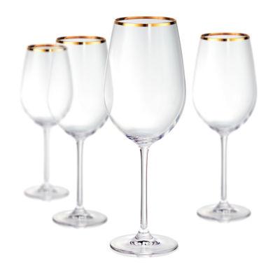 Artland Gold Band Bordeaux 4-pc. Wine Glass