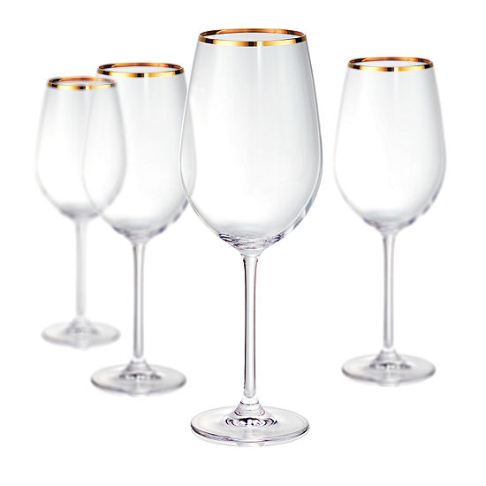 Artland Gold Band Bordeaux 4-pc. Wine Glass