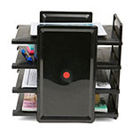 Mind Reader 4 Tier Desktop Document and Folder Tray Organizer, Black