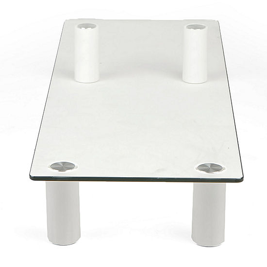 Mind Reader Glass Monitor Stand Riser, Clear