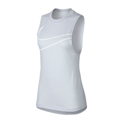 Nike Stripe Graphic Tank Womens Crew Neck Sleeveless Tank Top