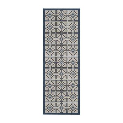 Safavieh Courtyard Collection Samara Geometric Indoor/Outdoor Runner Rug