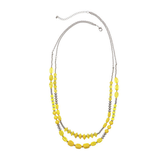 Mixit Yellow 29 Inch Cable Beaded Necklace