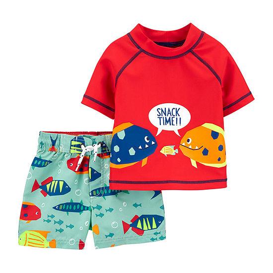 Carter's Toddler Rash Guard Set