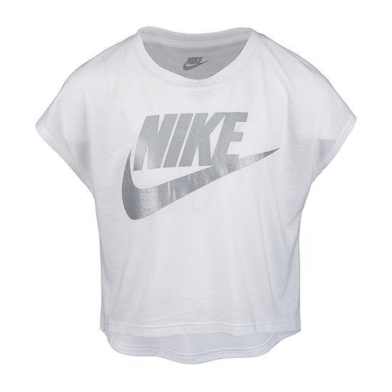 Nike Little Girls Crew Neck Short Sleeve Graphic T-Shirt