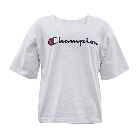 Champion Big Girls Crew Neck Short Sleeve Graphic T-Shirt