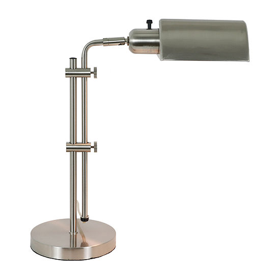 Decor Therapy Brushed Steel Adjustable Pharmacy Steel Table Lamp