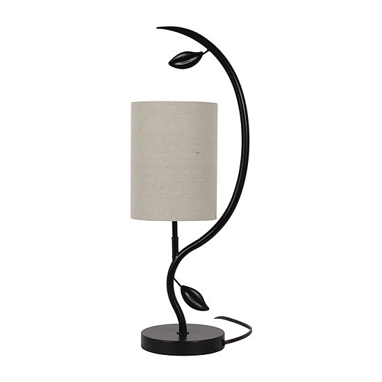 Decor Therapy Anna Leaf Metal Table Lamp