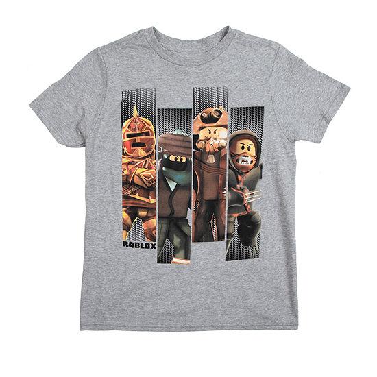 Boys Crew Neck Roblox Short Sleeve Graphic T Shirt Little Big Kid