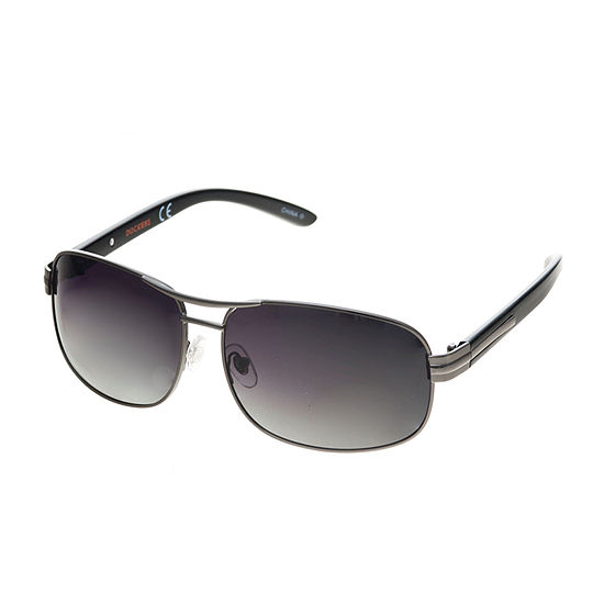 Dockers Mens Polarized Full Frame Rectangular Sunglasses