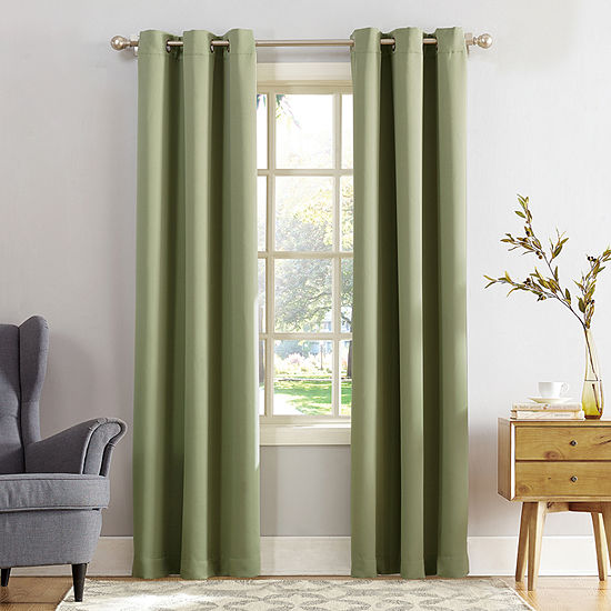 Sun Zero Evan Energy Saving Blackout Grommet-Top Curtain Panel