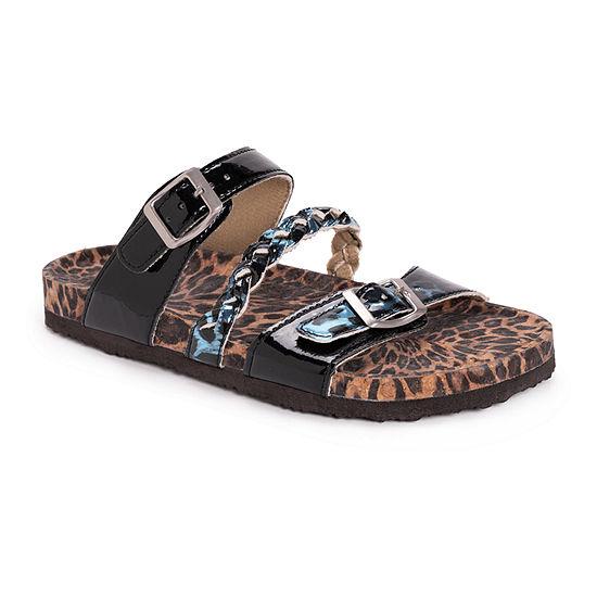 Muk Luks Bonnie Womens Adjustable Strap Footbed Sandals