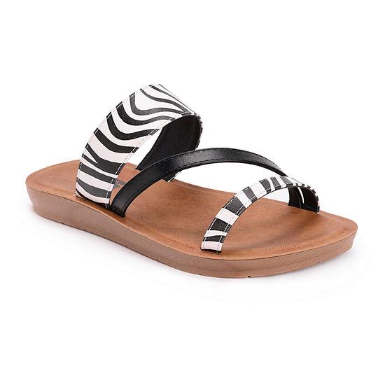 Muk Luks Womens Dahlia Flat Sandals