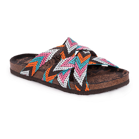 Muk Luks Sloane Womens Footbed Sandals
