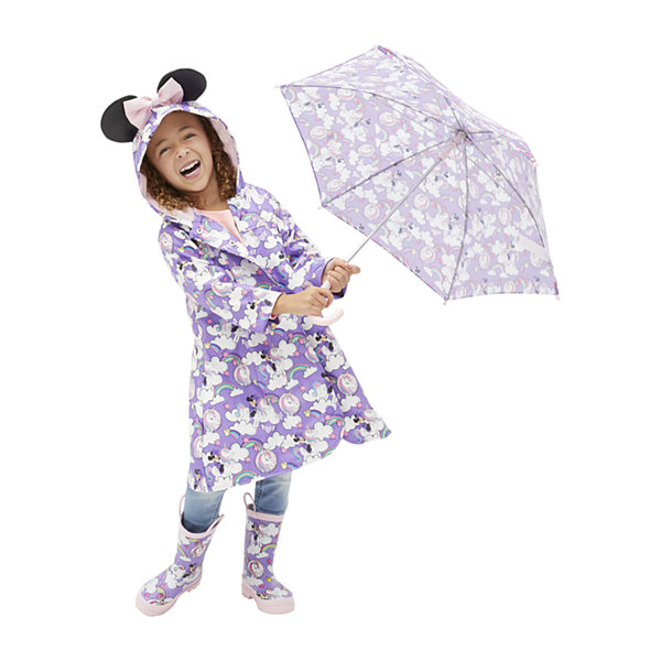 Disney Collection Little Kid / Big Kid Girls Minnie Mouse Water Resistant Midweight Raincoat