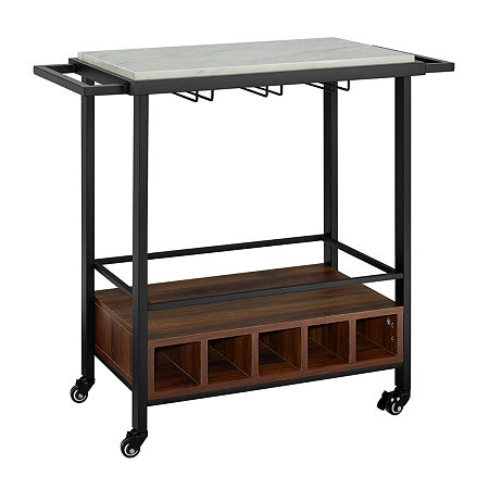 Jcpenney Affiliate For Maxton Metal Top Serving Cart One Size Yellow Accuweather Shop