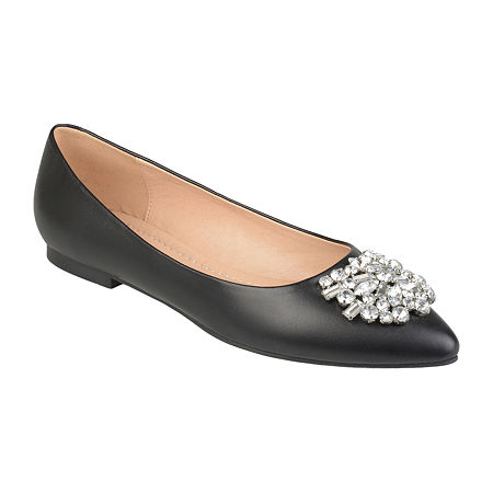 History of Victorian Boots & Shoes for Women Journee Collection Womens Renzo Ballet Flats 6 12 Medium Black $52.49 AT vintagedancer.com