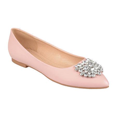 Edwardian Shoes & Boots   Titanic Shoes Journee Collection Womens Renzo Ballet Flats 8 Medium Pink $52.49 AT vintagedancer.com