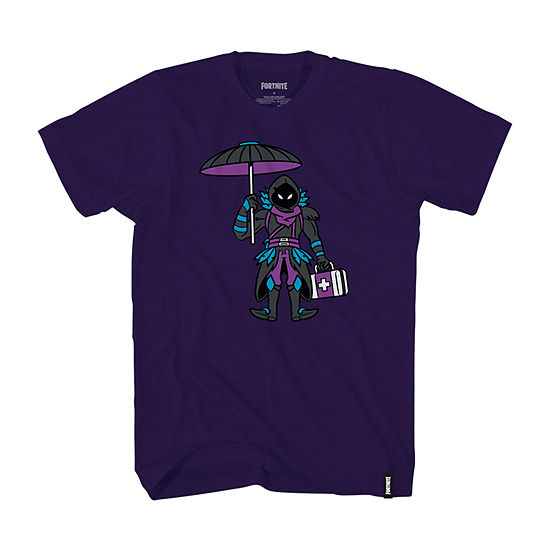 Little & Big Boys Crew Neck Fortnite Short Sleeve Graphic T-Shirt