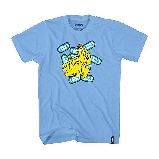 Little & Big Boys Crew Neck Fortnite Short Sleeve Graphic T-Shirt