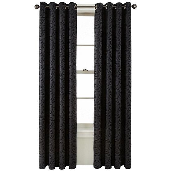 Studio Energy Saving Blackout Grommet-Top Single Curtain Panel